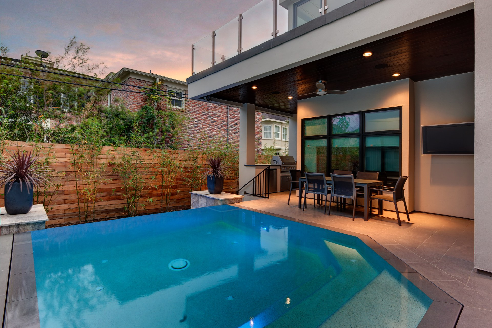 AVEA custom pool and outdoor space