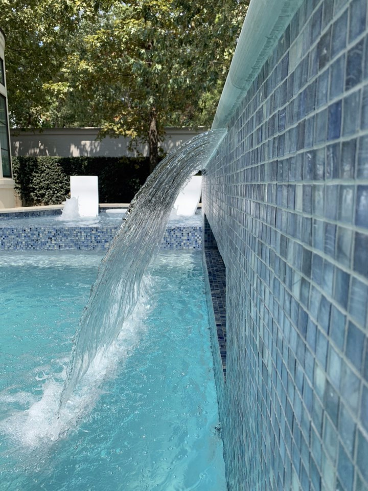 AVEA waterfall pool design