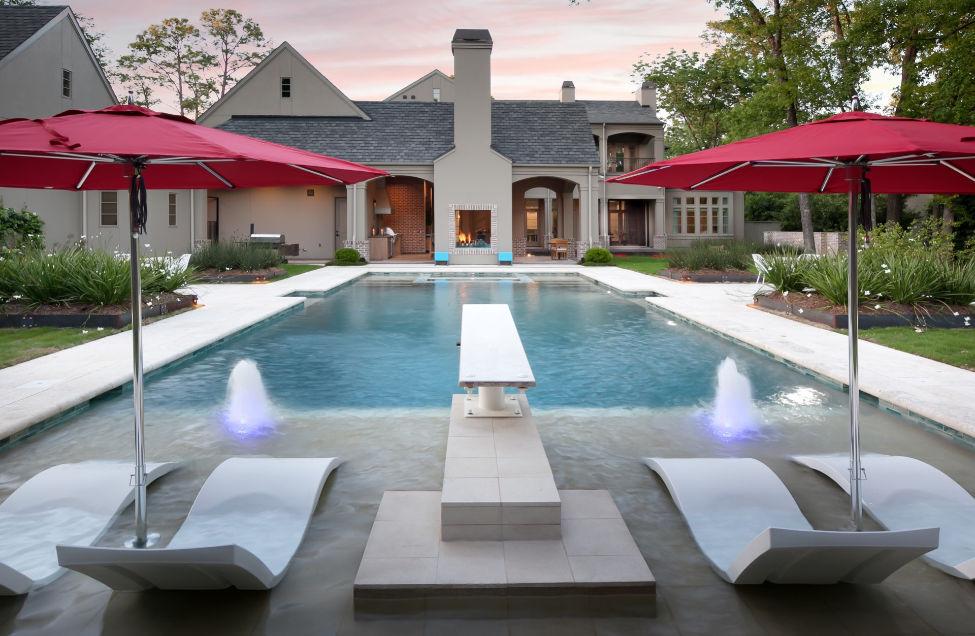 Memorial Modern Estate custom swimming pool